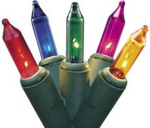 String Lights - 100ct - Green/Multi