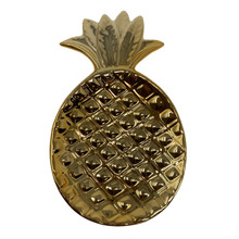 Pineapple Small Dish - Gold Ceramic