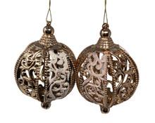 Ornament - Pair of Finials - Rose Gold