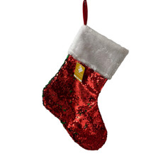 Stocking - Flip Sequin - Red/Green