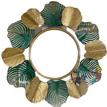 Leaf Mirror - Green/Gold