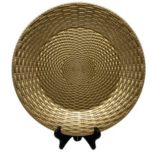 Charger - Basketweave - Gold