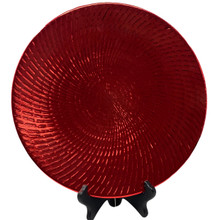 Charger - Metallic Swirled Lines - Red