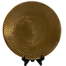 Charger - Metallic Swirled Lines - Gold