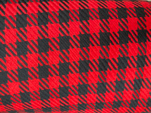 Suiting - Large Houndstooth - Red & Black
