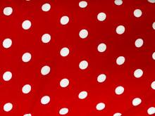 Cotton Spandex Print - Polka Dot - Red