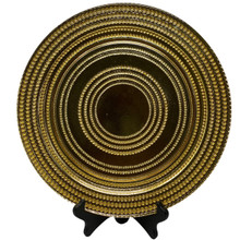 Charger - Glass - Concentric Circles - Gold