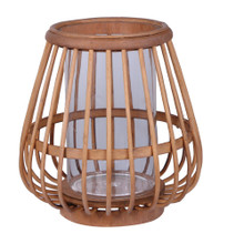 Lantern - Bamboo with Glass