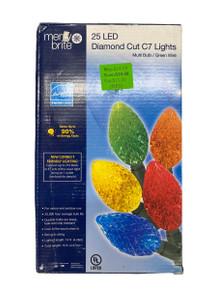 Lights  - LED Diamond Cut - 25ct - Multi