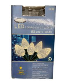 Lights  - LED Diamond Cut - 25ct - Warm White