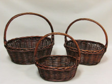 Willow Baskets - Oval - Stained