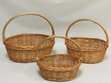 Willow Baskets - Oval - Honey