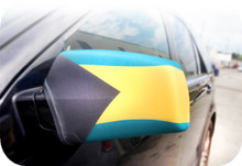 Bahamas Flag Car Mirror Covers