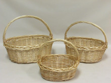 Willow Baskets - Oval - Natural