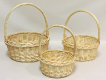 Willow Baskets - Round - Natural