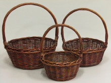 Willow Baskets - Round - Stained