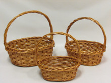 Willow Baskets - Woven Oval - Honey