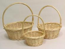 Willow Baskets - Round Heavy Rim - Natural
