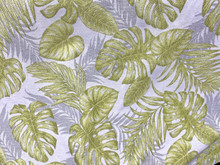 Uph/Drapery - Tropical Monstera - Grey/Green