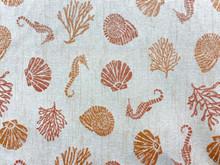 Uph/Drapery - Seahorses & Seashells - Corals/Neutral