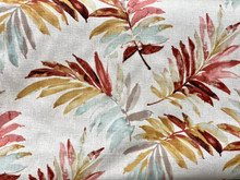Uph/Drapery - Leaves - Multi/Neutral