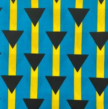 PolyCotton - Bahamas Stripe with Triangles
