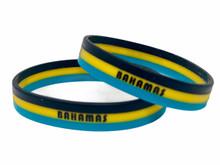 Bahamas Silicone Bracelet - Striped