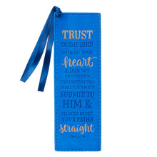 Trust in the Lord LuxLeather Pagemarker - Proverbs 3:5-6