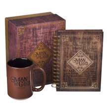 Man of God Mug and Journal Boxed Gift Set for Men - 1 Timothy 6:11