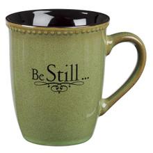 Be Still Stoneware Coffee Mug - Psalm 46:10