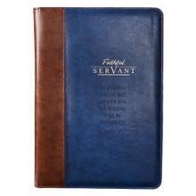 Faithful Servant Legal Size Zippered Portfolio - 2 Chronicles 15:7