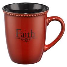 Faith Stoneware Coffee Mug - 1 Peter 1:21