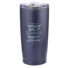 Hope & a Future Navy Stainless Steel Mug - Jeremiah 29:11