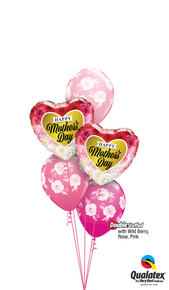 Balloon Bouquet: Wild Berry, Rose & Pink Mother's Day Flower