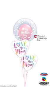 Balloon Bouquet: Multicolored Mother's Day Hearts