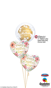 Balloon Bouquet: Pink & Gold Mother's Day Flower Bubble