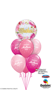 Balloon Bouquet: Wild Berry, Rose & Pink Mother's Day Petite Polka Dots