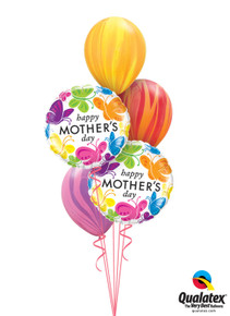 Balloon Bouquet: Mother's Day Rainbow Butterflies