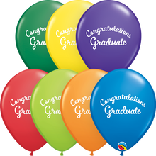 "11"" Round Latex Balloon ""Graduation Script"" Carnival Assortment"