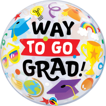 "22"" Bubble Balloon Way To Go Grad"