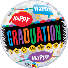 "22"" Bubble Balloon Happy Graduation"