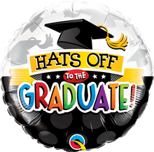 "18"" Round Hats Off To The Graduate"