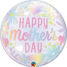 "22"" Bubble Balloon Mother's Day Floral Pastel"