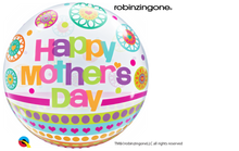 "22"" Bubble Balloon Mother's Day Dots & Patterns"