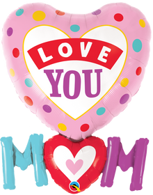 "33"" Shape Love You Mom Dots"