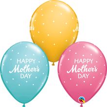 "11"" Round Latex Balloon Mother's Day Petite Polka Dots"