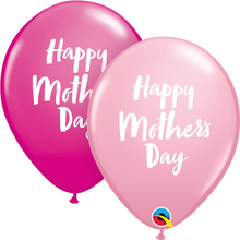 "11"" Round Latex Balloon Mother's Day Script"