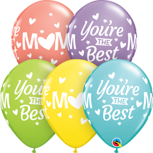 "11"" Round Latex Balloon Mom You're The Best Sorbet Assortment"