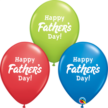 "11"" Round Latex Balloon Happy Father's Day"