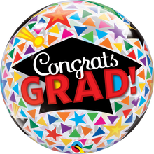"22"" Bubble Balloon Congrats Grad Caps & Triangles"
